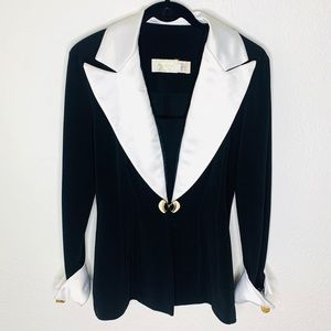 Vintage Cache Black and White Blazer Size Small